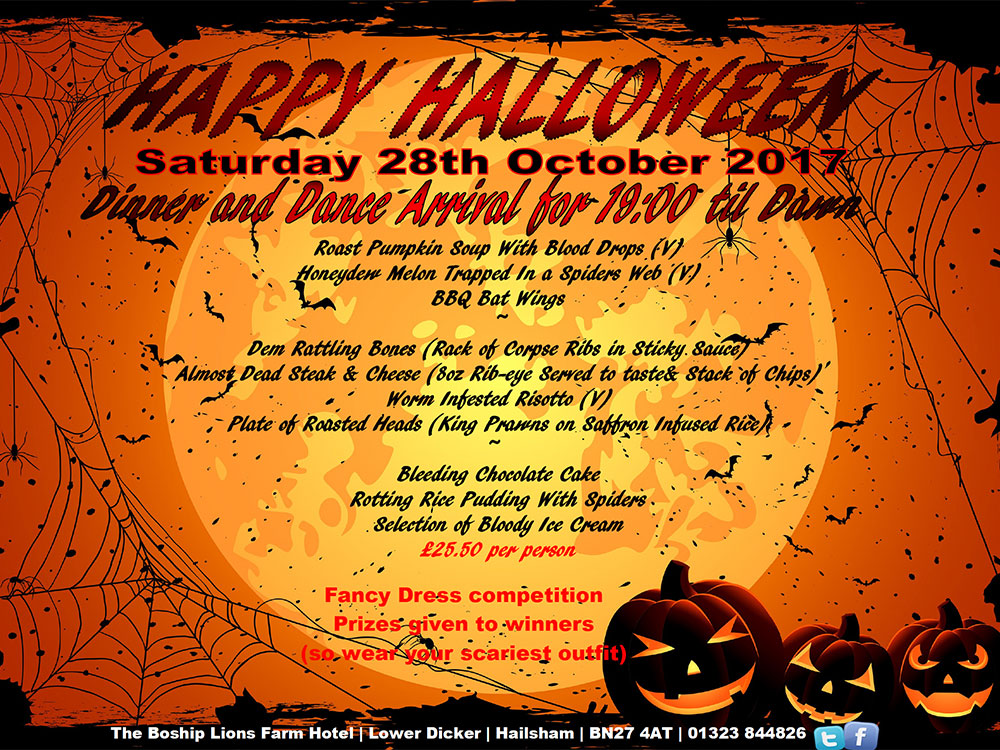 October – Halloween Fancy Dress Special! One night's bed and breakfast accommodation at the Lions Group